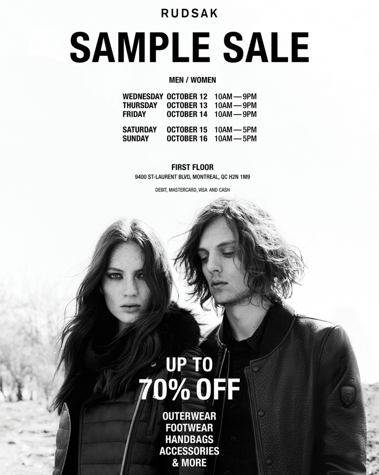 RUDSAK Sample Sale Fall 2016