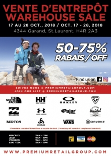 Premium Retail Group Warehouse Sale Fall 2018
