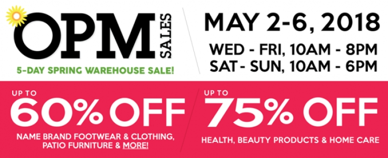 OPM Warehouse Sale Spring 2018