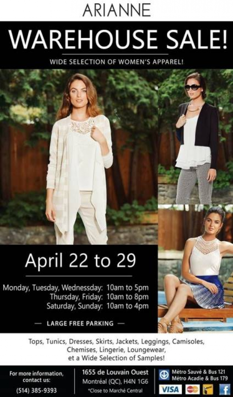 Arianne Warehouse Sale 2017