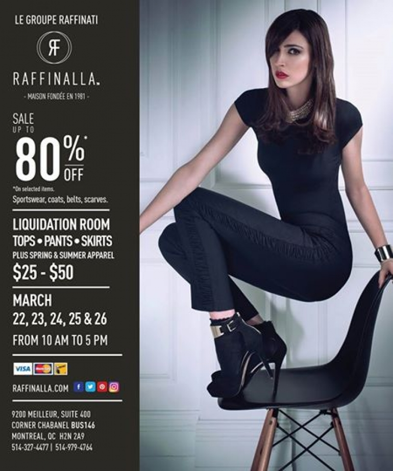 Raffinalla Warehouse Sale March 2017