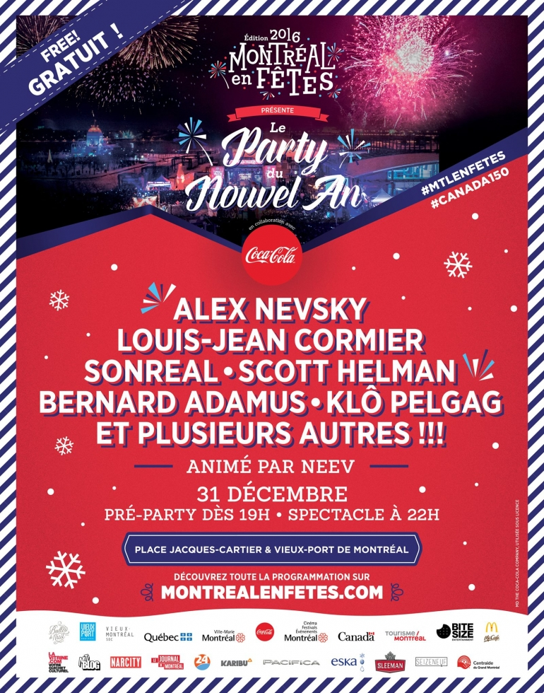 The New Year's Eve Celebration Montreal 2017