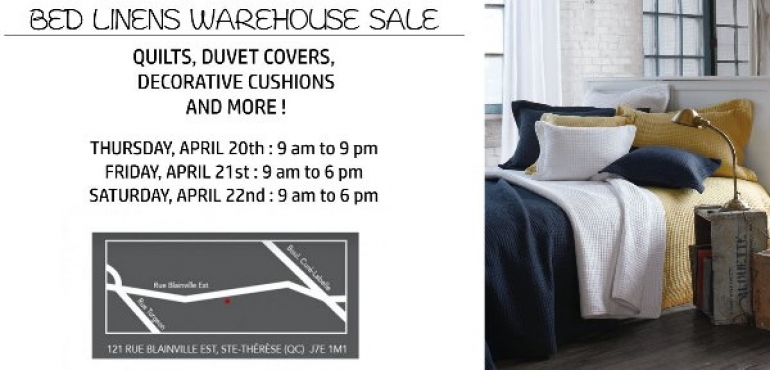 Brunelli Linens Warehouse Sale 2017