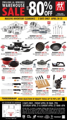 Zwilling J.A. Henckels Warehouse Sale 2018