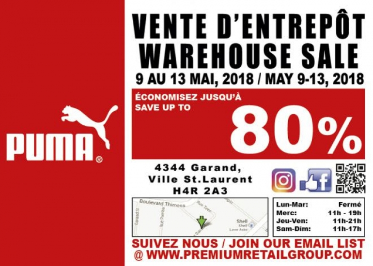 Puma Warehouse Sale 2018