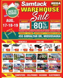 Samtack Warehouse Sale August 2018