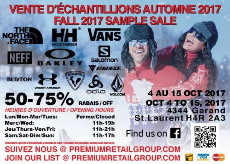 North Face Helly Hansen Warehouse Sale Fall 2017