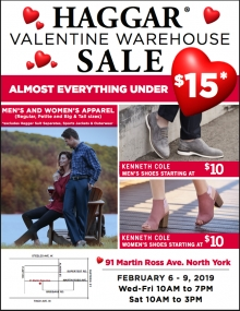 Haggar Warehouse Sale 2019