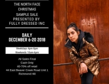 North Face Sample Sale December 2018
