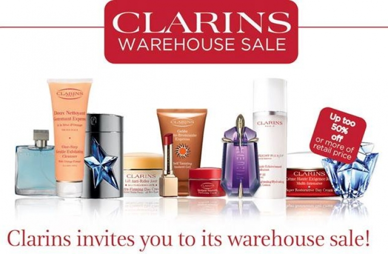 Clarins Warehouse Sale Montreal Fall 2016