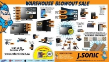 J Sonic Warehouse Sale May 2017