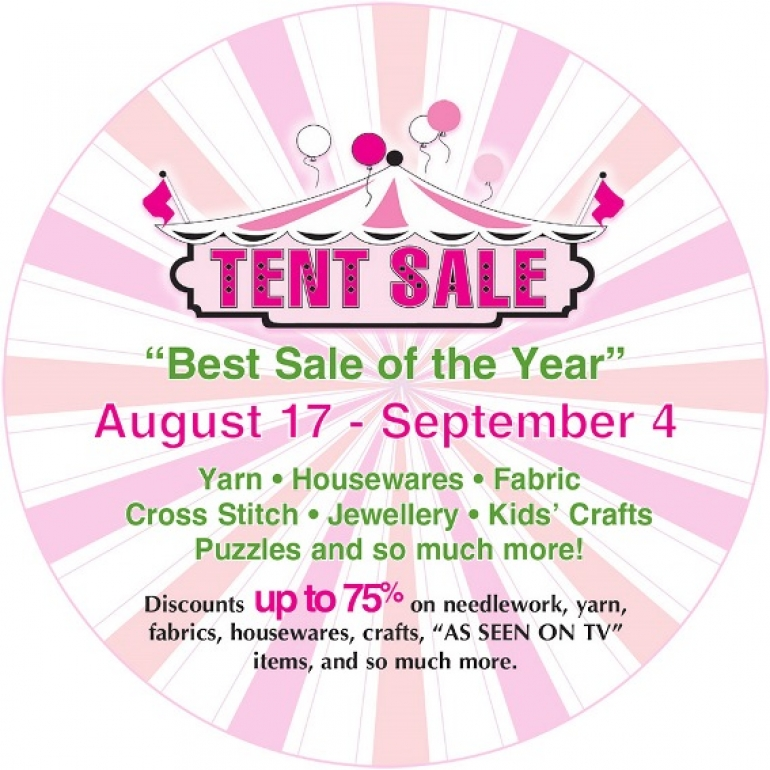 Mary Maxim Tent Sale 2017