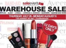 Revlon, Johnson & Johnson, Haggar and more Warehouse Sale Summer 2018