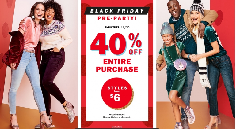 Old Navy Canada Black Friday Sale 2018