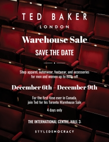 Ted Baker Warehouse Sale 2018
