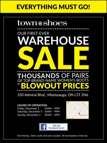 Town Shoes Warehouse Sale 2016