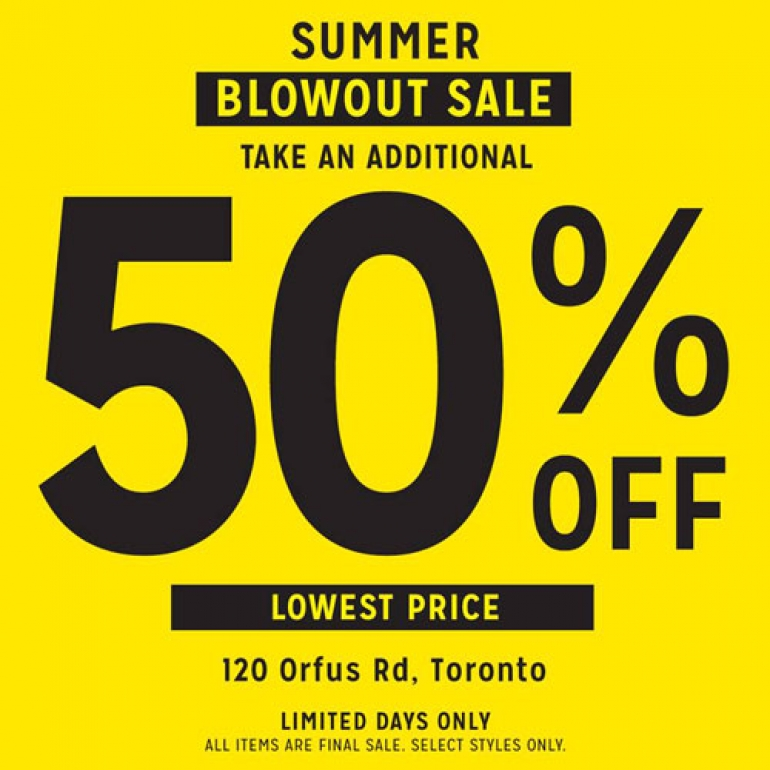 Roots Summer Blowout Sale July 2017