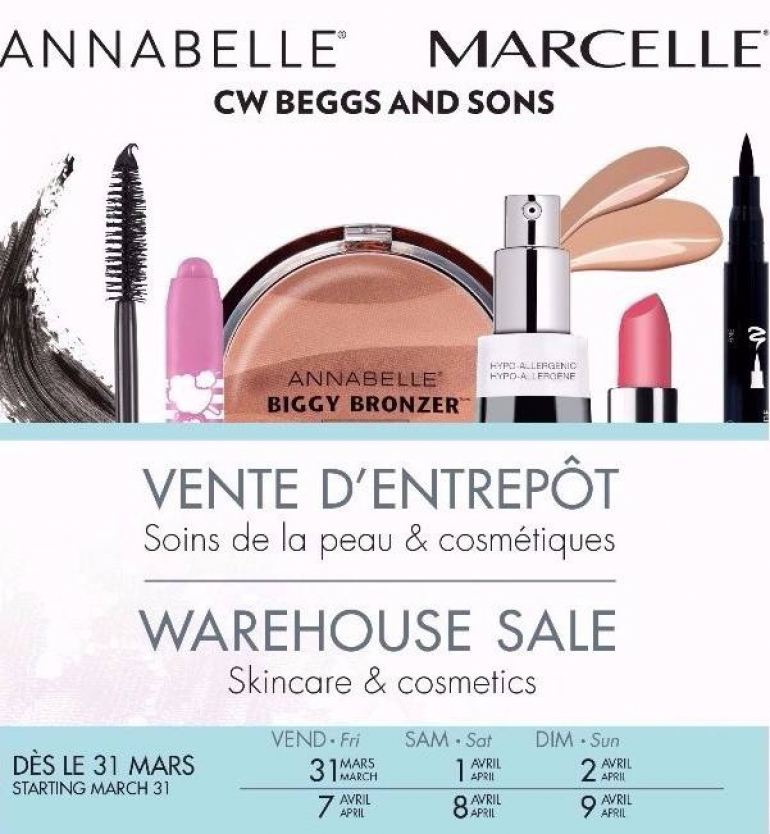 Marcelle Annabelle Warehouse Sale 2017