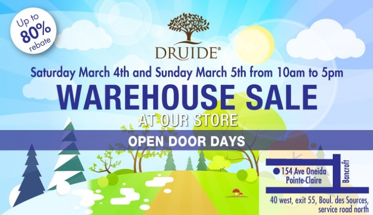 Druide Warehouse Sale 2017
