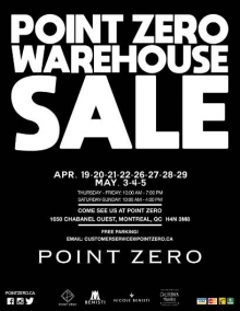 Point Zero Warehouse Sale 2018