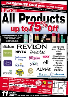 Revlon, Johnson & Johnson & Haggar Clothing Warehouse Sale 2019
