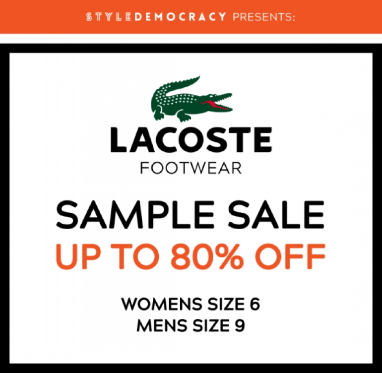 Lacoste Footwear Sample Sale 2018