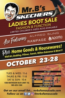 Mr. B's Warehouse Sale Oct 2018