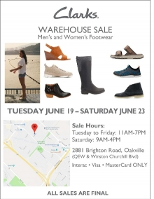 Clarks Warehouse Sale 2018