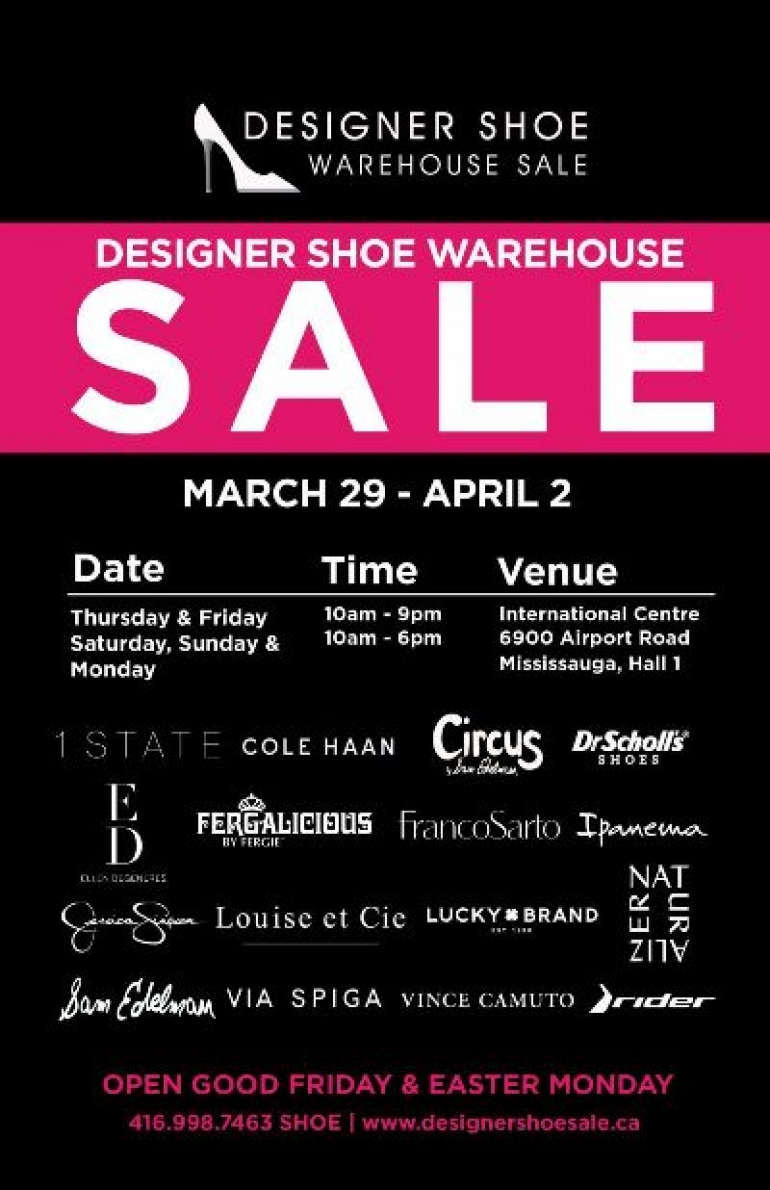 Designer Shoe Warehouse Sale Spring 2018