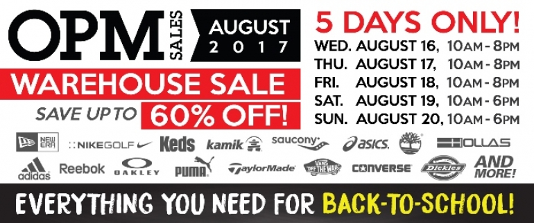 OPM Warehouse Sales 2017