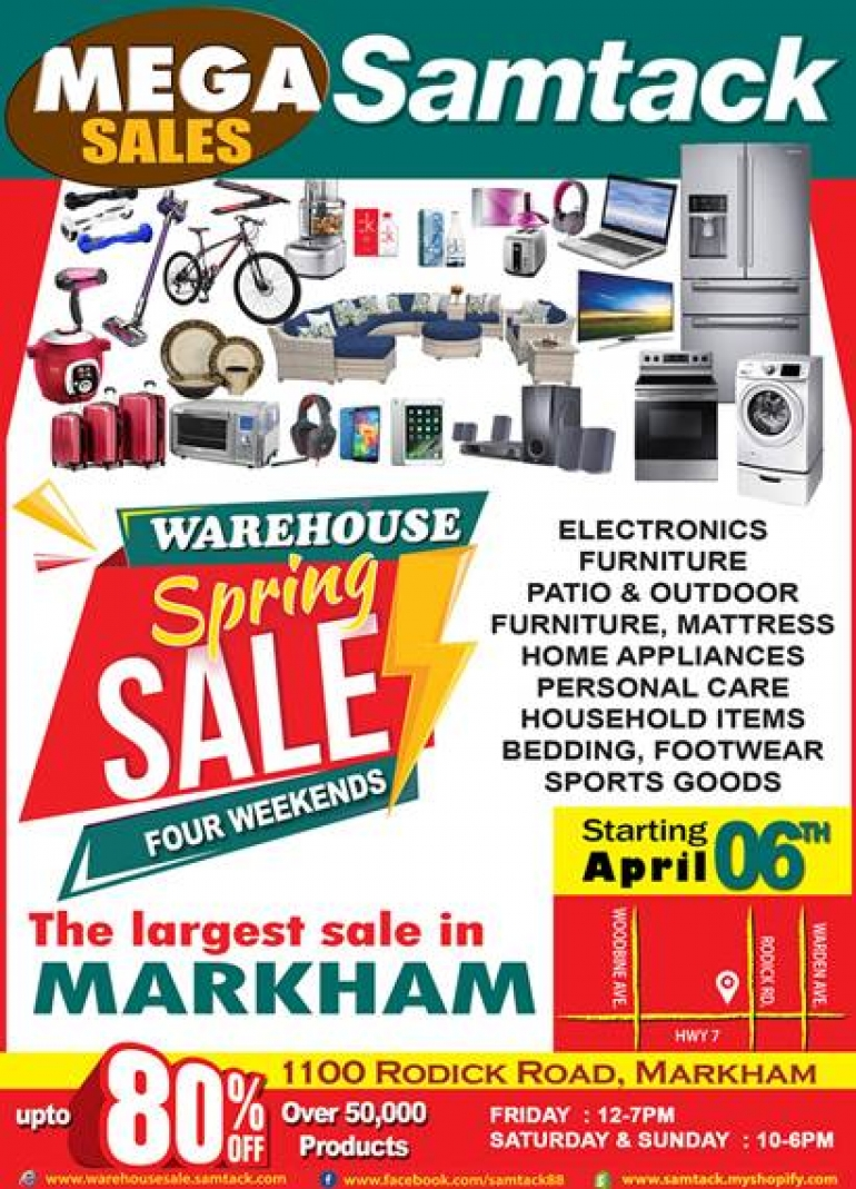 Samtack Warehouse Sale Spring 2018