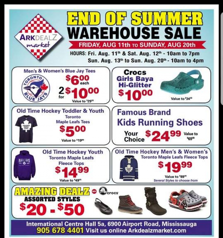 Crocs End of Summer Warehouse Sale 2017