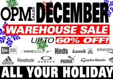 OPM Christmas Warehouse Sale 2016