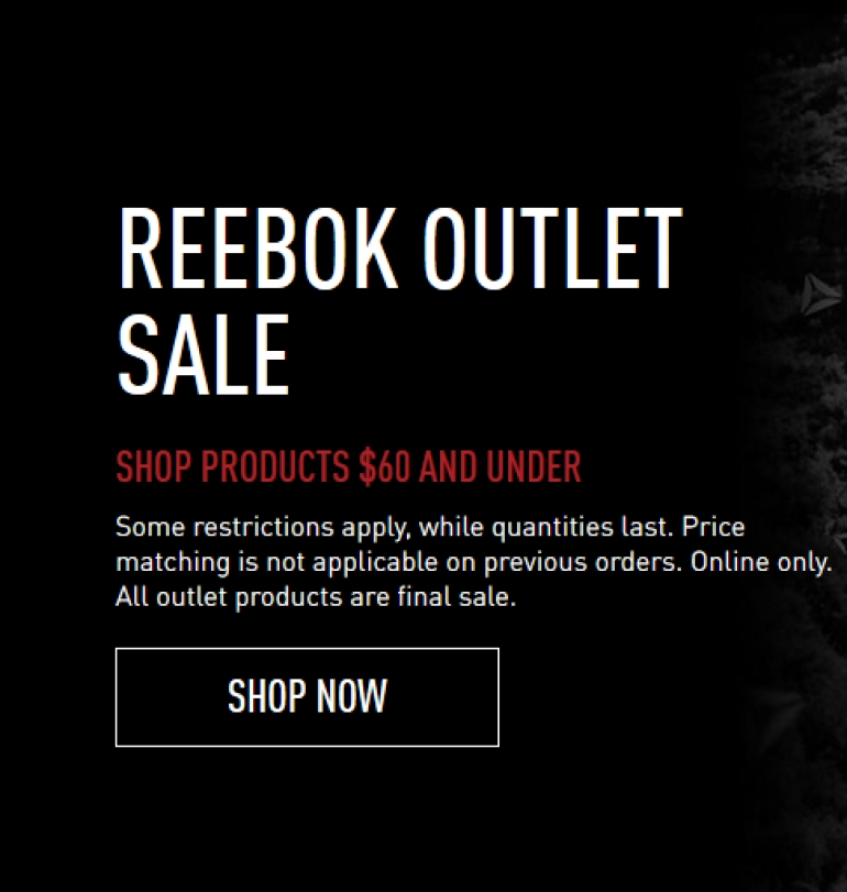 Reebok Canada Last-Call Outlet Sale Feb 2018