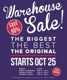 William Ashley Fall Warehouse Sale 2018