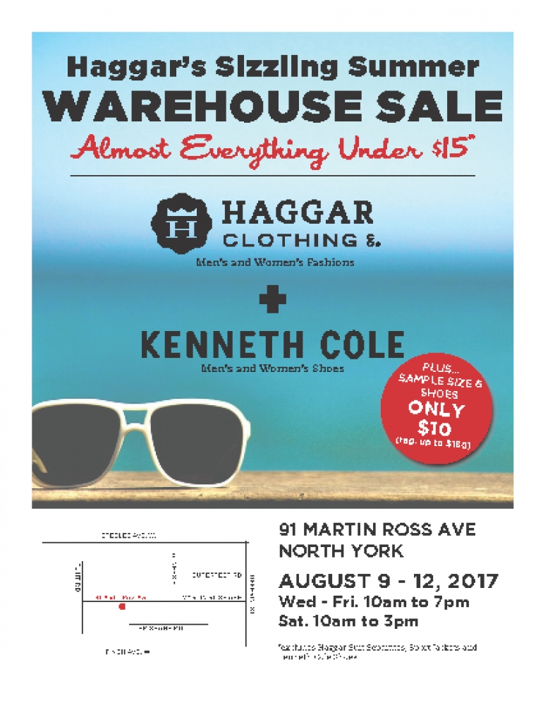Haggar Sizzling Summer Warehouse Sale 2017
