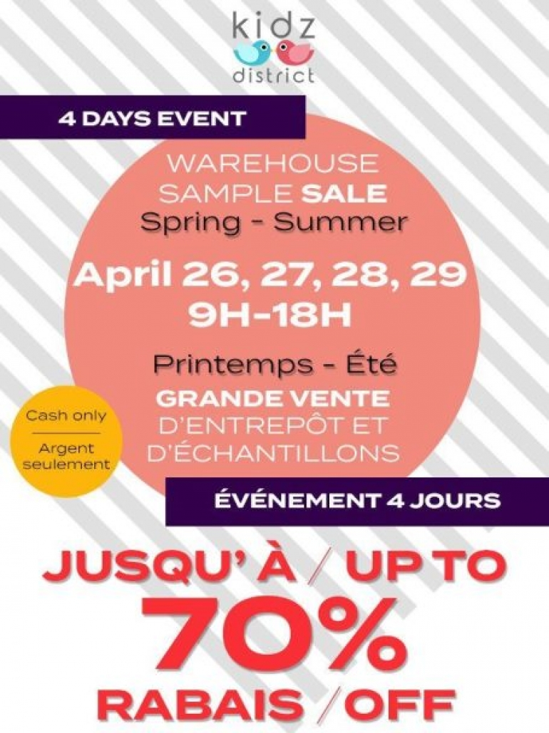 Kidz District Spring sample sale 2017